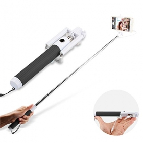 Selfie Stick, Nalanda Extendable Monopod With Universal Adjustable Phone Holder and Built-in Remote Shutter