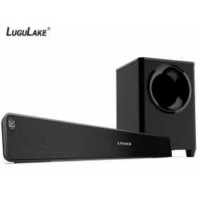 LuguLake 2.1 Channel 140watt TV Soundbar System with Wireless Subwoofer, Home Theater Sound Bar Stereo Speaker W/ Bluetooth - 36 inch