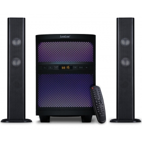 LuguLake Sound Bar Speaker System with Subwoofer,Bluetooth, LED Light, FM Radio, USB Reader Supports MP3/WMA Dual Format