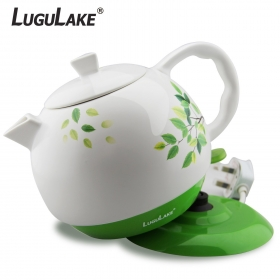 LuguLake Ceramic Teapot Electric Kettle Water Boiler 1300ML